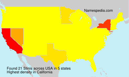 Surname Stinis in USA