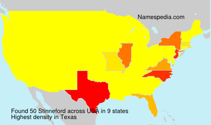 Surname Stinneford in USA
