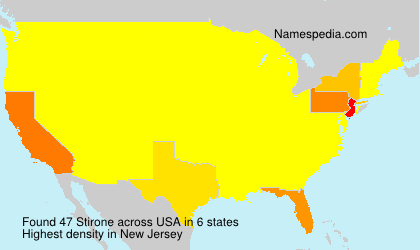 Surname Stirone in USA