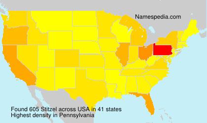 Surname Stitzel in USA