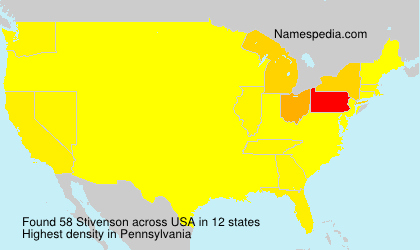 Surname Stivenson in USA