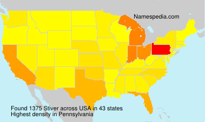 Surname Stiver in USA