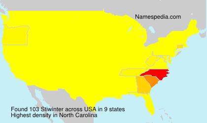 Surname Stiwinter in USA