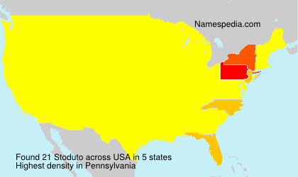 Surname Stoduto in USA
