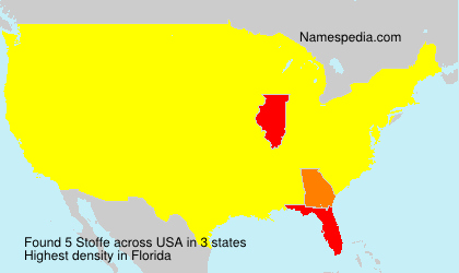 Surname Stoffe in USA