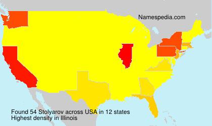 Familiennamen Stolyarov - USA