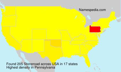 Surname Stoneroad in USA