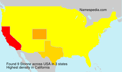 Familiennamen Stonne - USA