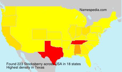 Familiennamen Stooksberry - USA