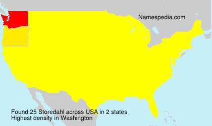 Surname Storedahl in USA