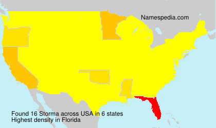 Surname Storma in USA
