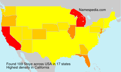 Surname Stoye in USA