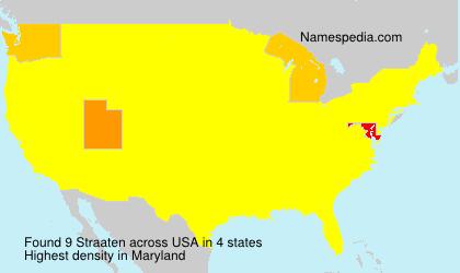Surname Straaten in USA