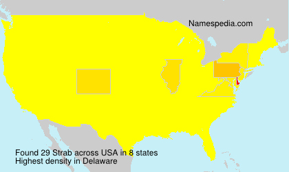 Surname Strab in USA