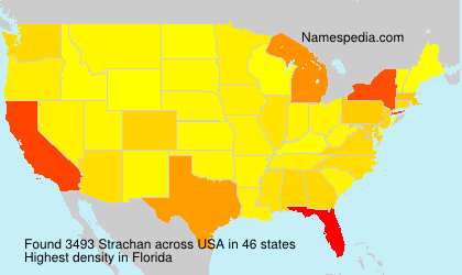 Surname Strachan in USA