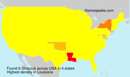 Surname Straczuk in USA