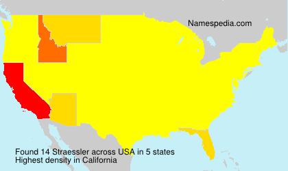 Surname Straessler in USA