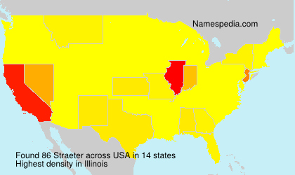 Surname Straeter in USA