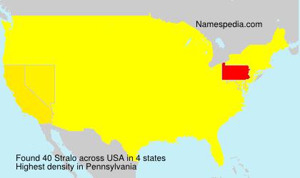Surname Stralo in USA