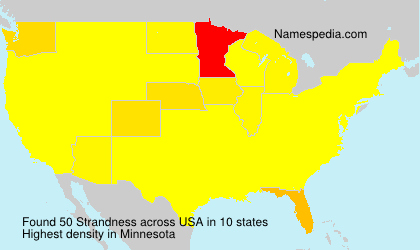 Surname Strandness in USA
