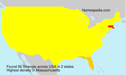 Familiennamen Strangie - USA