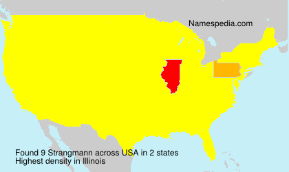 Surname Strangmann in USA