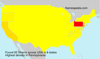 Surname Stranix in USA