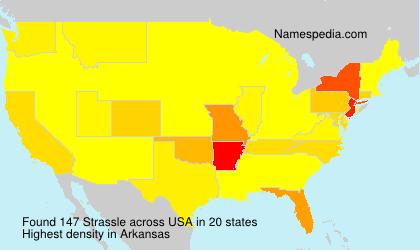 Surname Strassle in USA