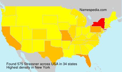 Familiennamen Strassner - USA