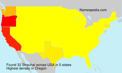 Surname Strauhal in USA