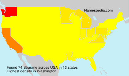 Surname Straume in USA