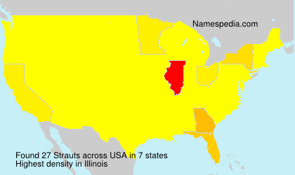 Surname Strauts in USA
