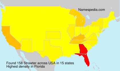 Surname Strawter in USA