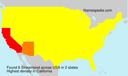 Surname Streamland in USA