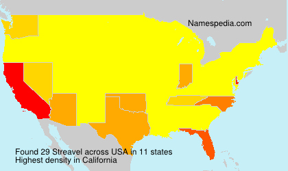 Surname Streavel in USA