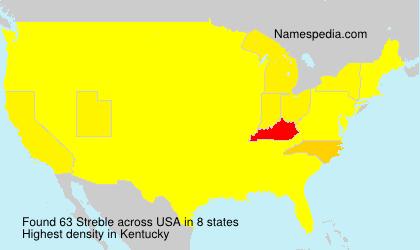Surname Streble in USA