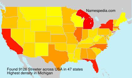 Familiennamen Streeter - USA