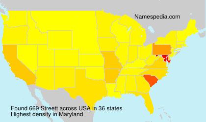Surname Streett in USA