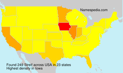 Surname Streif in USA
