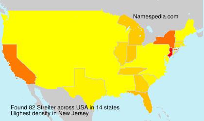Familiennamen Streiter - USA