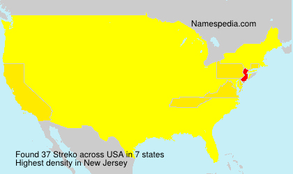 Surname Streko in USA