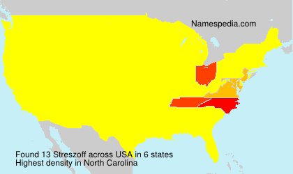 Surname Streszoff in USA