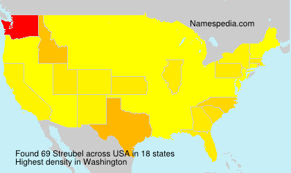 Surname Streubel in USA