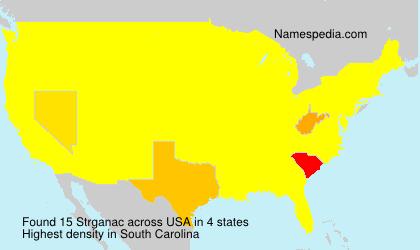Surname Strganac in USA