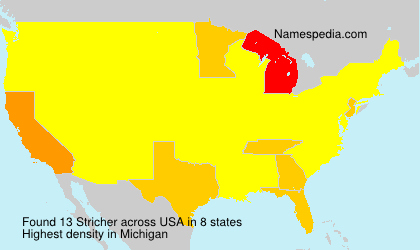 Surname Stricher in USA