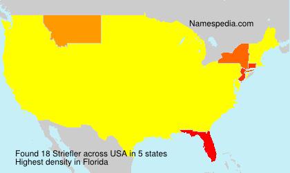 Surname Striefler in USA
