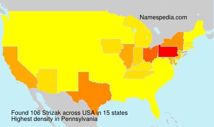 Surname Strizak in USA