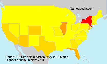Familiennamen Stroehlein - USA