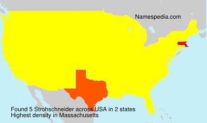 Surname Strohschneider in USA