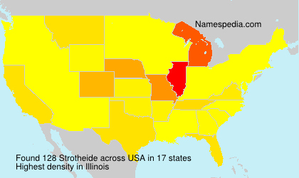 Surname Strotheide in USA